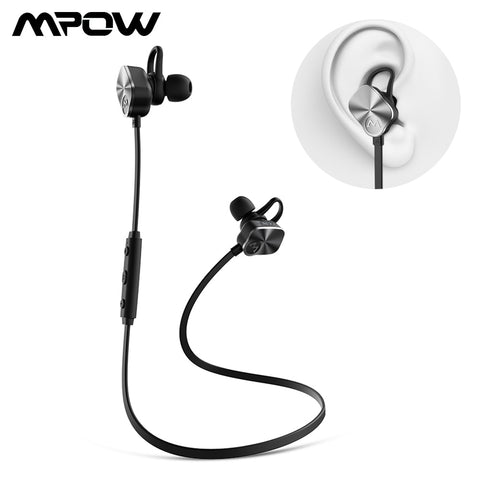 Update Version Mpow MBH29 Bluetooth 4.1 Earphone Handsfree Wireless Sport Headphones Stereo Headset With Built-in Mic For Gym