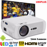 Upgrade Mini Projector Bluetooth WIFI HDMI LCD Home Theater  LED Projector for Android 7.0 Full HD 1080p Video Media Player