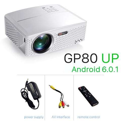 VIVIBRIGHT 1800 Lumens LED Projector GP80 / UP. (Optional Android 6.0.1, WIFI, Bluetooth Simple Beamer) for TV LED Home Theater