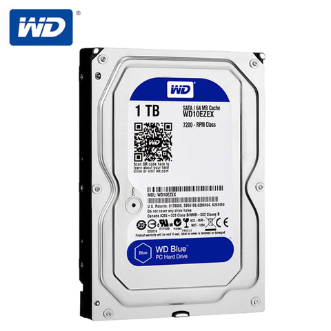Western Digital WD 3.5'' 1TB Blue Desktop HDD Internal Hard Disk Drive 7200 RPM SATA 6Gb/s 1TB HD Hard Drive For Computer PC