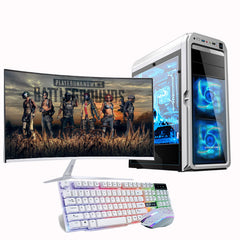 Wholesale desktop computer cpu i7 Ram 8GB HDD 480GB gaming desktop computer pc with 32inch monitor