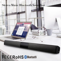 Wireless Bluetooth Column Soundbar Stereo Speaker Powerful TV Home Theater 2.0A Built-in Battery Sound Bar TF USB Sound Bar