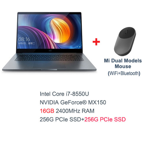 Xiaomi Mi Laptop Air Pro 15.6 Inch Notebook Intel Core i7-8550U CPU NVIDIA 16GB 256GB SSD GDDR5 Fingerprint Windows 10
