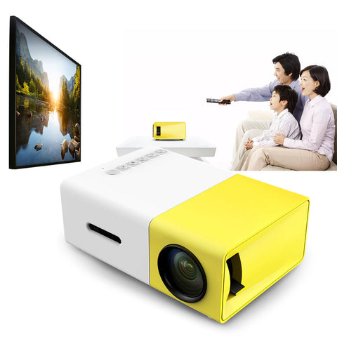 YG300 Mini LCD Projector 1080p 400-600LM 320x240 Home Theater US Plug Support AV CVBS HDMI USB YG-300 Proyector Drop Shipping