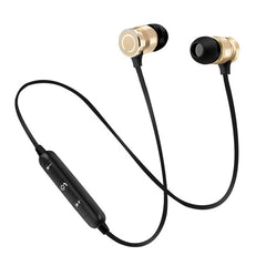 YOU FIRST Wireless Bluetooth Earphone Stereo Headset With Microphone Magnetic Metal Sport Wireless Headphones Noise Cancelling