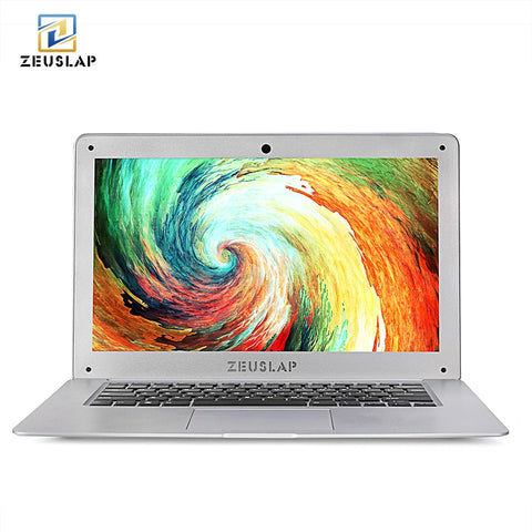 ZEUSLAP 14inch 8G RAM 64GB SSD 500GB HDD Intel Quad Core Windows 10 System 1920X1080P FHD Ultrathin Notebook Computer Laptop