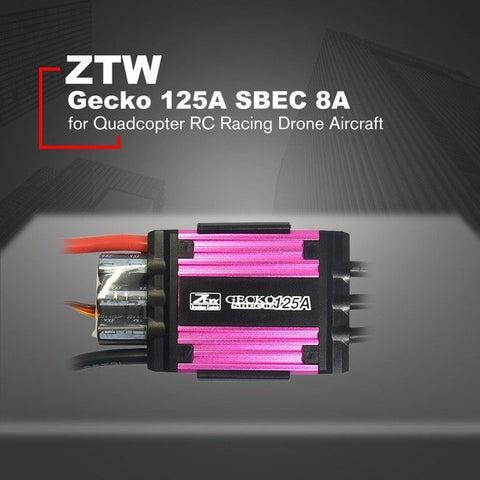 ZTW Gecko 125A Brushless ESC Electronic Speed Controller with 8A SBEC for Quadcopter RC Racing Drone Aircraft HOT!