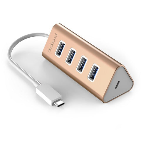 dodocool HUB Aluminum USB Type-C Male to 4-Port USB 3.0 Hub Adapter with USB-C Female Charging Port PD for New MacBook air pro