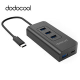 dodocool USB-C to 4-Port USB 3.0 Hub with USB Type-C Input Charging Port for Apple New MacBook Google ChromeBook Pixel MateBook