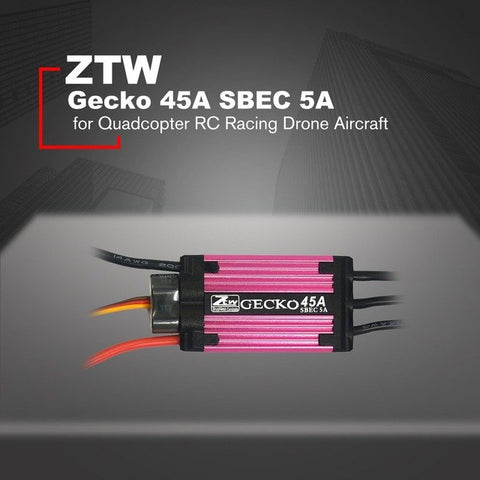 new ZTW Gecko 45A Brushless ESC Electronic Speed Controller with 5A SBEC for Quadcopter RC Racing Drone Aircraft