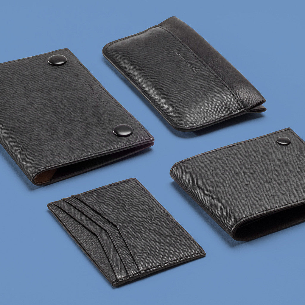 SLIM WALLET - Black Saffiano