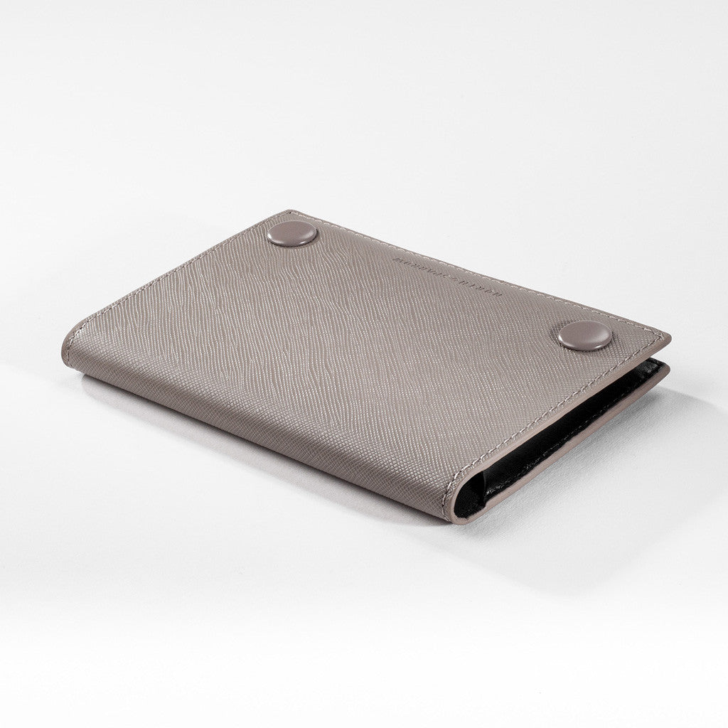 Passport Sleeve - Taupe Saffiano