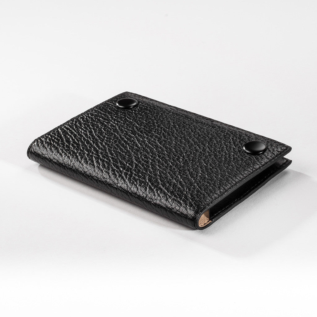 Passport Sleeve - Black High Grain