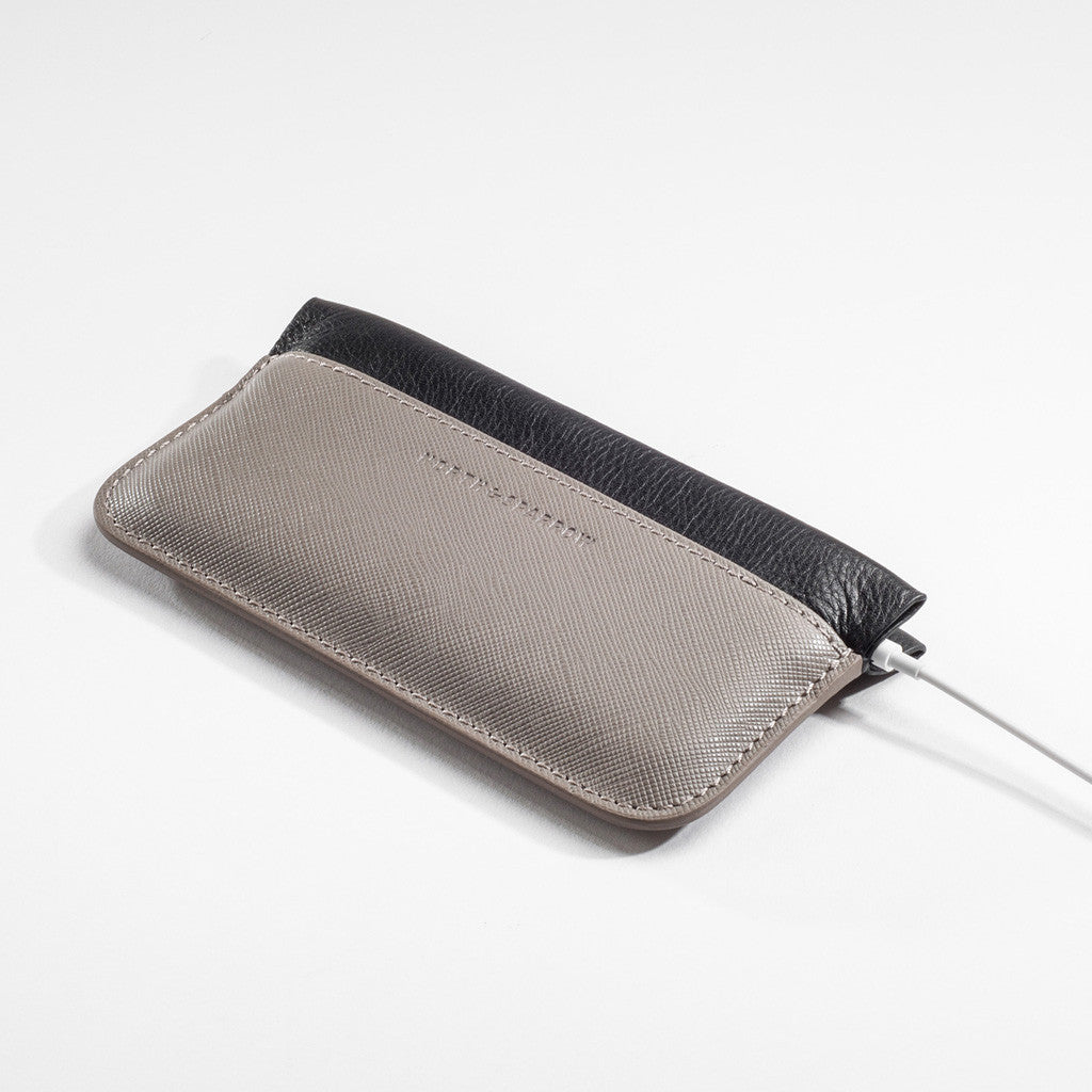Phone Pouch - Taupe Saffiano