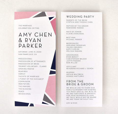 Amy Ceremony Program / Itinerary