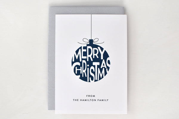 Blue Ornament Holiday Card