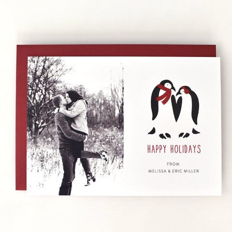Penguin Photo Holiday Card