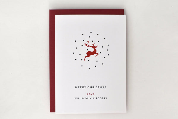 Deer Holiday Card