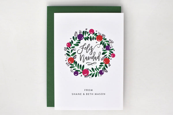 Wreath Holiday Card