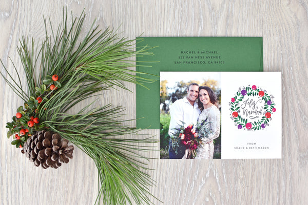 Wreath Photo Holiday Card