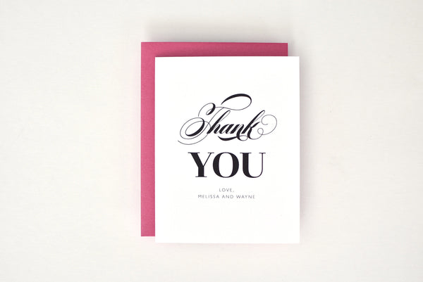 Melissa Suite Personalized Thank You Card