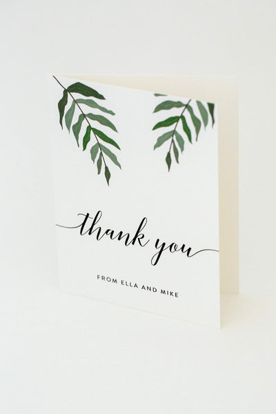 Ella Suite Thank You Card with Names