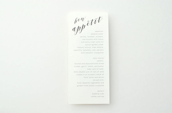 Pamela Suite Menu