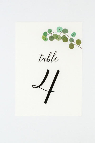 Ella Suite Table Numbers