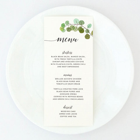 Ella Suite Menu