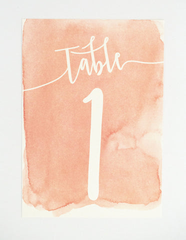 Sarah Table Number