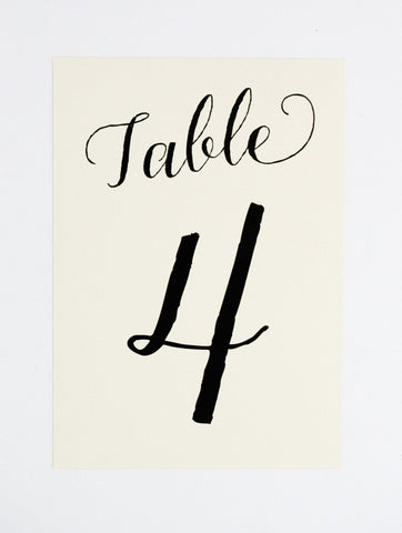 Colette Table Number