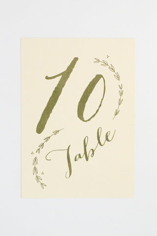 Charlotte Table Number