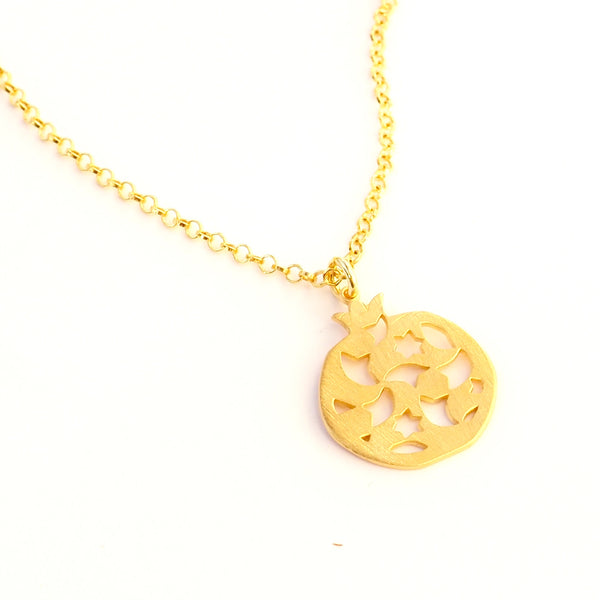 Granada pendant no.2. . Gold plated silver. PLATÓNICA, contemporary signature jewelry. manufactured in our workshop in Albaicin, Granada, Spain. Handmade jewelry. Alhambra Jewels, Granada. Granada crafts. Jewels made from Andalusia.