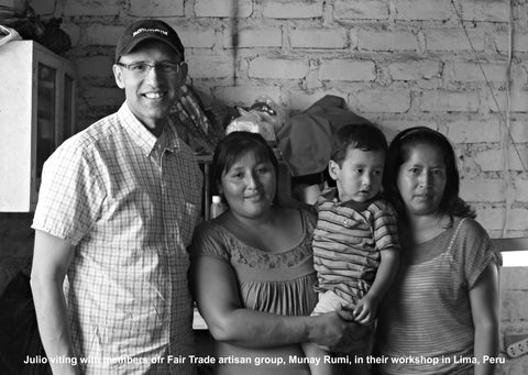 Julio Zegarra-Ballon visits with Fair Trade artisan group Munay Rumi in Peru