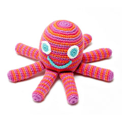 Hand crocheted octopus rattles from Pebble
