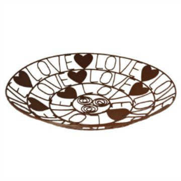 Recycled Metal Love Bowl