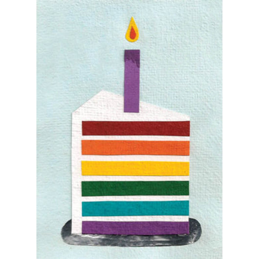 Birthday Rainbow Cake Card by Good Paper