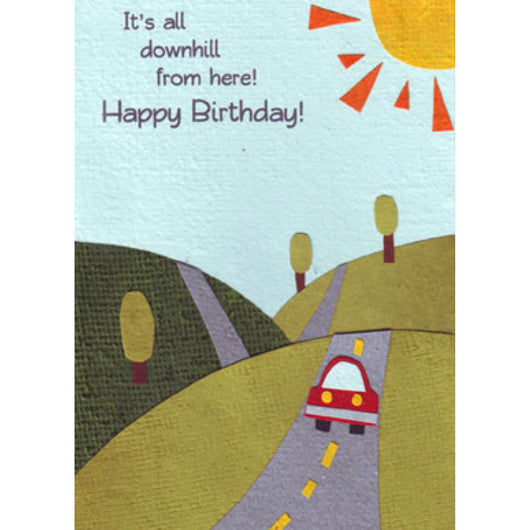 All Downhill Birthday Card by Good Paper