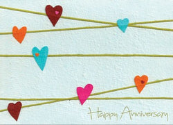 Anniversary Hearts Greeting Card by Good Paper