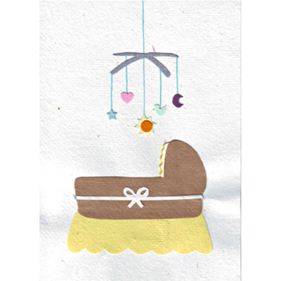 Cradle Congratulations Card by Good Paper