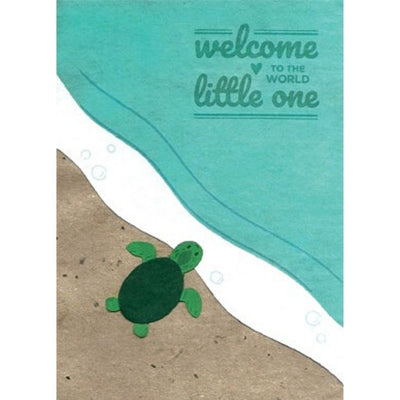Baby Turtle Congrats Card by Good Paper