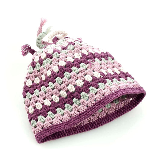 Organic Cotton Crochet Hat - Soft Purple