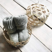 Organic Cotton Sage Baby Booties Gift Set lifestyle