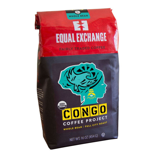 Equal Exchange Organic Congo Coffee Project 1 lb Whole Bean