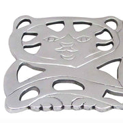 Cat Aluminum Trivet detail