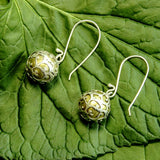 Balinese Dream Ball Sterling Silver Earrings