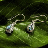 Antik Sterling Silver and Abalone Teardrop Earrings