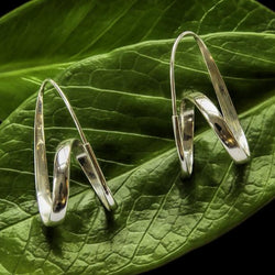Bumi Sterling Silver Swirl Hoops Earrings
