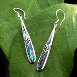 Keindahan Abalone and Sterling Silver Earrings from Bali