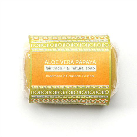 All-natural Aloe Vera Soap - Papaya 4.2 oz